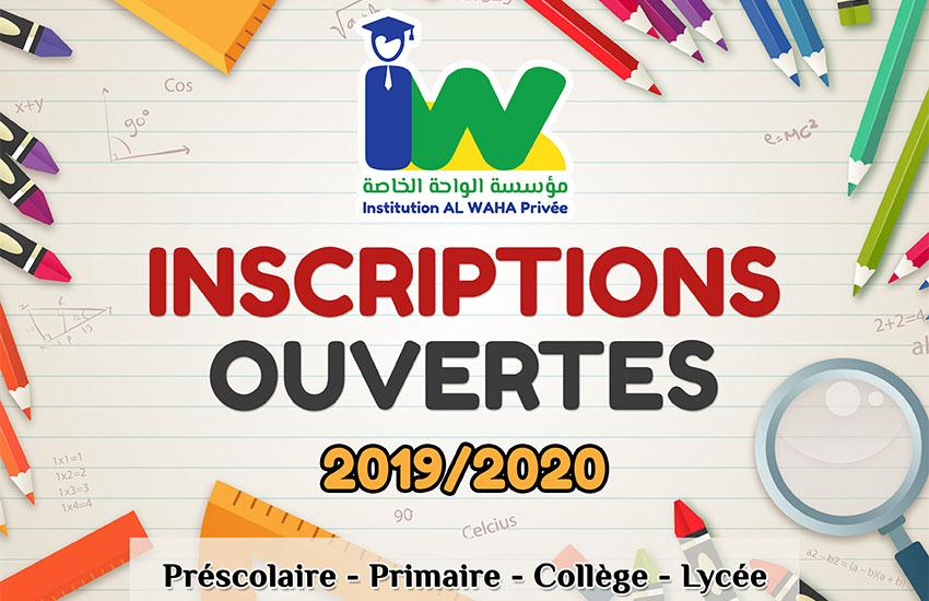 Inscriptions Ouvertes 2019/2020