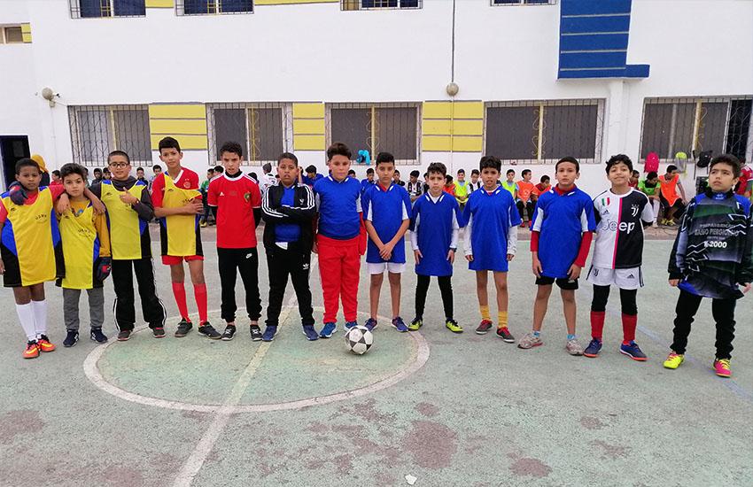 إنتقاء التلاميذ للبطولة المدرسية الإقليمية